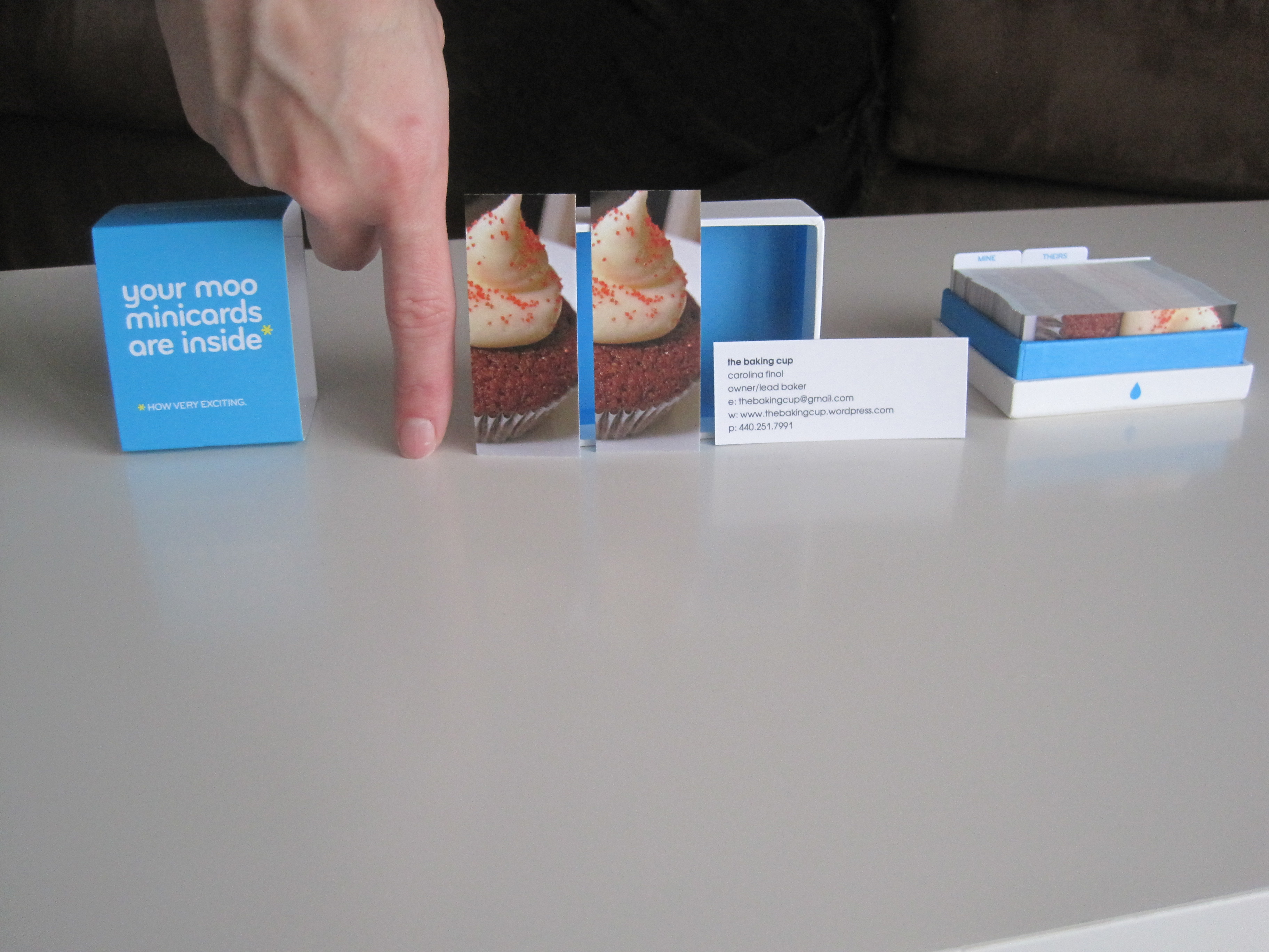 the baking cup business cards