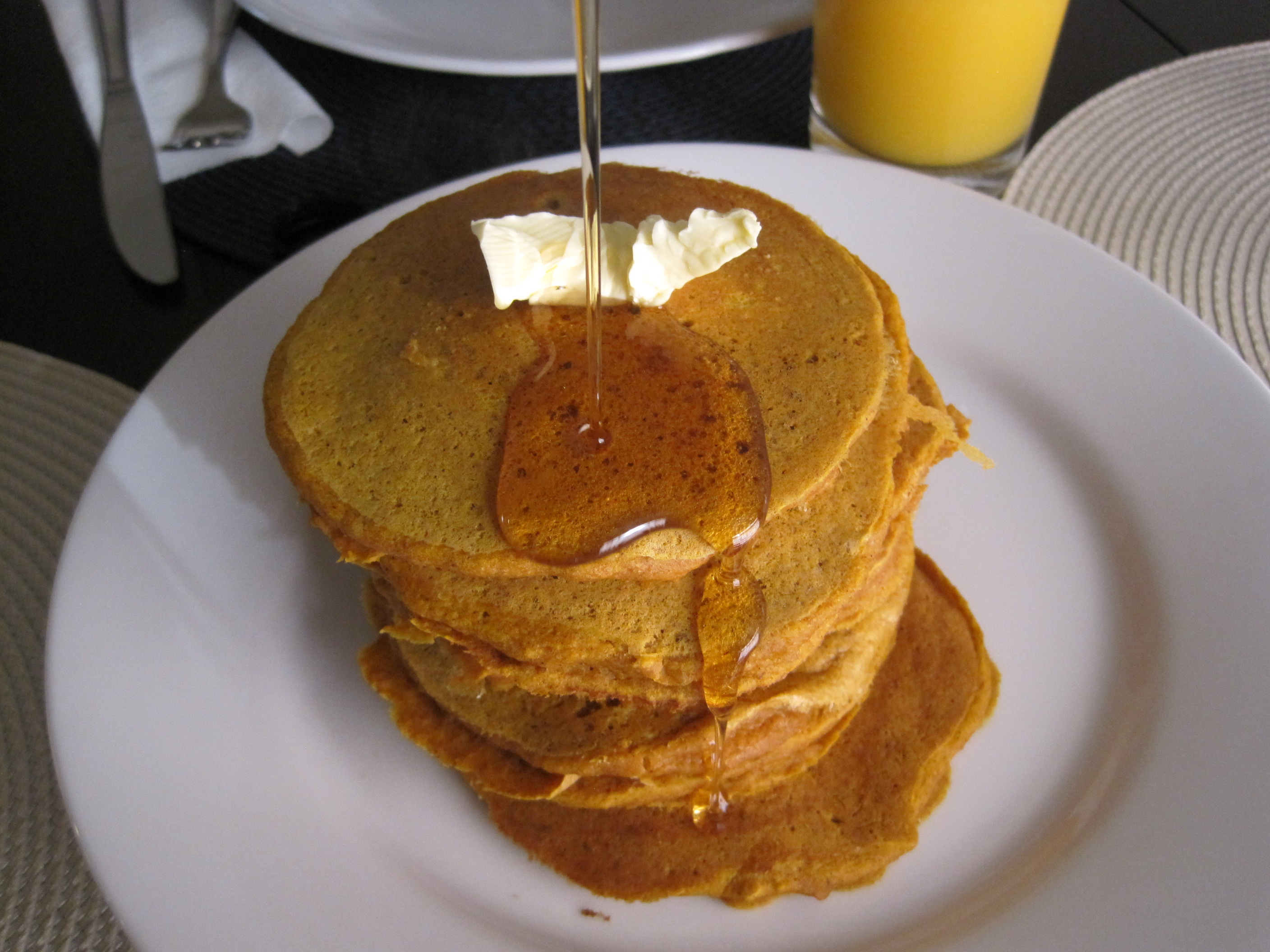 pumpkin whole wheat pancakes by the baking cup